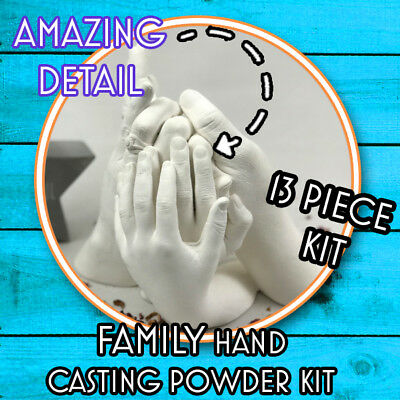 Best on eBay, Family Hand Casting Kit Alginate Plaster Kits Hand Mould,