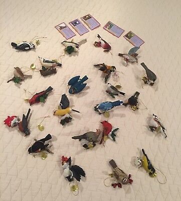 The Danbury Mint Songbird Christmas Ornament Lot of 22  Great Condition!