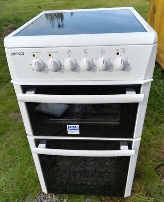 BEKO electric cooker with glass hob BEKO DVC563A 50cm wide