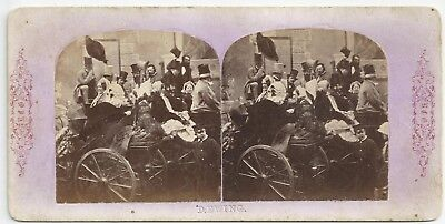 Stereo Stereoview Genre English Groups. Derby Day, Going to the Races Crinoline