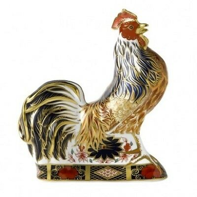 New Royal Crown Derby 2nd Quality Old Imari Rooster Paperweight