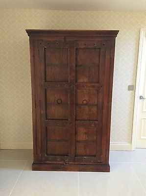 Tall Old Spanish Antique Cupboard. Linen. Kitchen Larder. Wardrobe