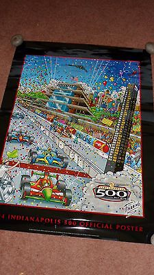 Speedway Poster.2004 Indianapolis 500 Official Poster. May 30th 2004. 88th .VGC.