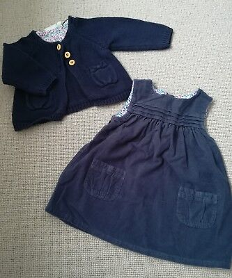 jojo maman bebe, dress and cardigan size 6-12 months