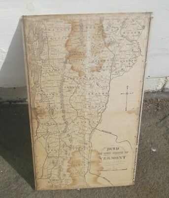 Original 1859 Map of Vermont with railroad lines 6 1/2x11 approx.