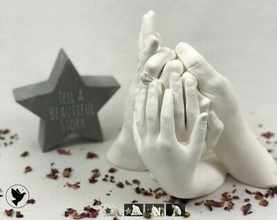 Wow Great Value, Family Hand Casting Kit Alginate Plaster Kits Hand Mould