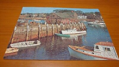 Victory Gold Box Plywood Jigsaw Harbour scene 400  pieces with Whimsies complete