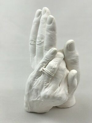 Deluxe Couples Hand Casting Kit with Bucket -Plaster-Alginate- Holding Hands Kit