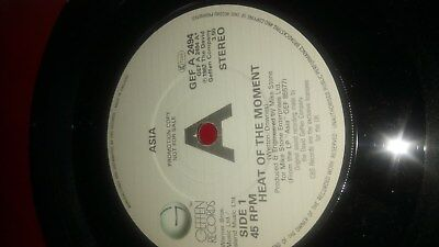 Asia: Heat Of The Moment / Time Again - Promotion Copy Geffen GEF A2494 1982