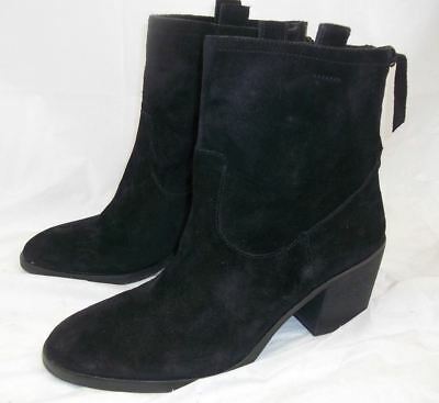 96598228cccd Sam Edelman Farrell Womens US 8 M Black Suede Heeled Ankle Boots Back  Zipper New