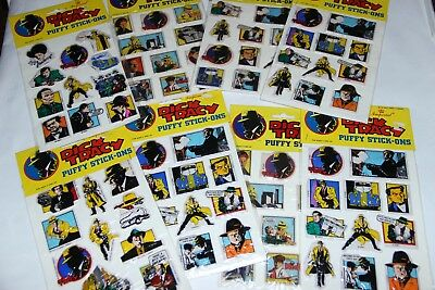 Lot of (8) Vintage Imperial Dick Tracy Puffy Stickers New in package!