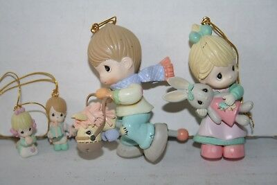 PMI Precious Moments 1995 Ornaments Lot of 4 Christmas Holiday