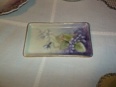 T & V Limoges France Hand Painted Trinket Dish Pin Tray