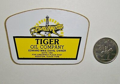 1 Oilfield Hard Hat Sticker / Tiger Oil Company