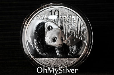 2011 Chinese Panda 1 oz Silver Coin MINT (Unopened in Original Capsule)