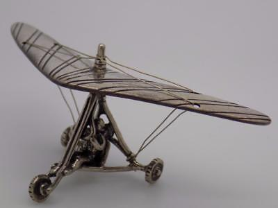 Vintage Solid Silver Italian Made Hand Glider Miniature, Figurine, Stamped