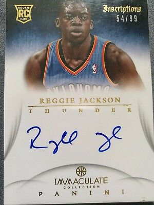 2012-13 Panini Immaculate Collection - Inscriptions #IN-RJ - Reggie Jackson /99