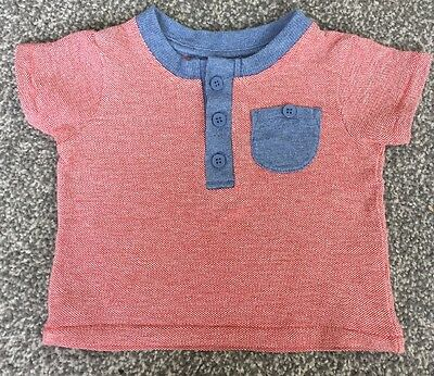 Baby Boys Red T-shirt 0-3 Months