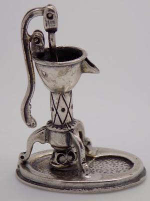 Vintage Solid Silver Italian Made Street Water Fountain Miniature, Stamped