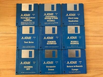 15 Atari St Tested Games Disks Only