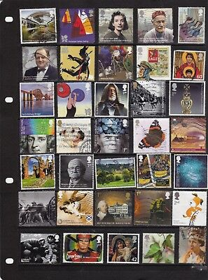 GB Recent Commemorative stamps - off paper selection