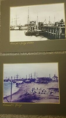 Two Photographs/prints The Wharf And Docks Connah's Quay