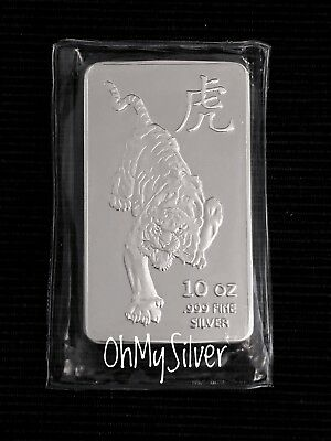 Sunshine Mint 10 oz .999 Silver Year of the TIGER Bar
