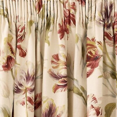 Ready made Curtains in Laura Ashley Gosford Cranberry