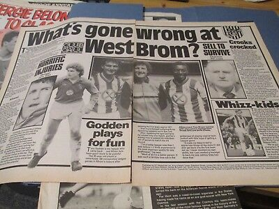 2 page article 'What's gone wrong at West Brom?'  West Bromwich Albion WBA