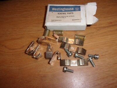 New Westinghouse Main Contacts Type A Size 2 3-Pole (Missing 1 screw) (07915)