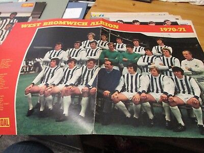 1970/71 West Bromwich Albion WBA West Brom colour team picture