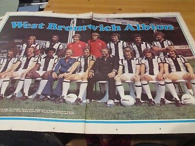 1979 West Bromwich Albion WBA West Brom 4 page article & colour team picture