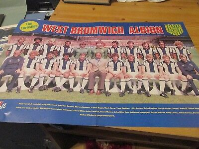 1980 West Bromwich Albion WBA West Brom colour team picture