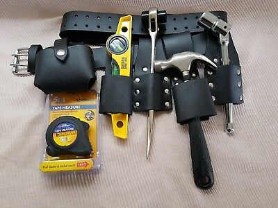 Scaffolding Leather Tool Belt Hammer Holder with Quality 4PCS Heavy Duty Tools