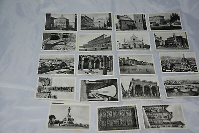 Vintage Italian postcards (9x6cm) - set of 20 Firenze, c1944