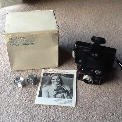 Vintage Polaroid Colorpack 82 Land Camera In Original Packaging