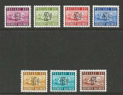 Guernsey 1969 Castle Cornet sterling postage due--Attractive Topical (J1-7) MNH