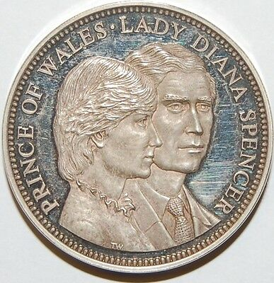 1981-Charles &diana Wedding -Silver Medal-South Africa