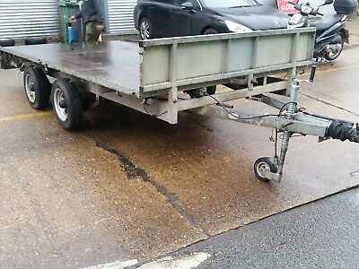 Ifor Williams LM126 flatbed trailer
