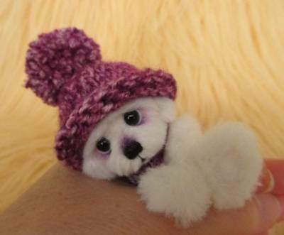 Chibber OOAK Original Hand Sewn Collectable Mini Artist Bear by Joxy Bears