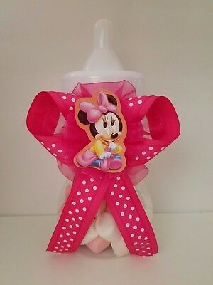 Minnie Mouse Centerpiece Bottle Large Baby Shower Piggy Bank It's a Girl Decor