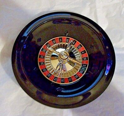 "Spinning Roulette Wheel Small 8"" Diameter No Ball Plastic Red Black Game EUC"