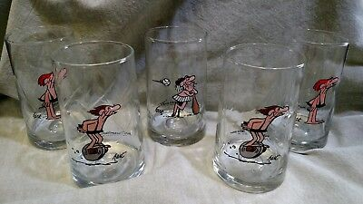 ARBYS B.C.ICE AGE COLLECTOR SERIES- set of 5 VTG 1981 glasses