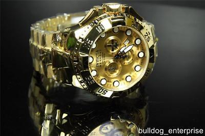 Invicta Reserve Excursion II Swiss Made High Polished Gold Plated Watch New