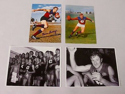 Kevin Murray  Fitzroy Lions  Hand Signed Photo + 3 Unsigned Photos