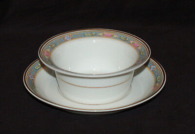 One Charles Martin Limoges Ramekin / Custard Cup and Saucer Set  Versailles EUC