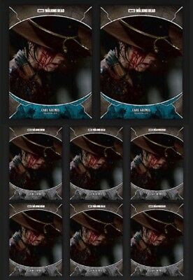 CARL GRIMES-WAVE 2-TRAGEDIES-2x BLUE+6x GRAY-TOPPS WALKING DEAD TRADER DIGITAL