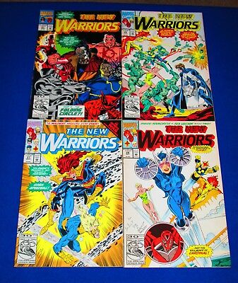 Lot of 4 THE NEW WARRIORS Issues 21, 26-28 [Marvel 1992] VF+ or Better