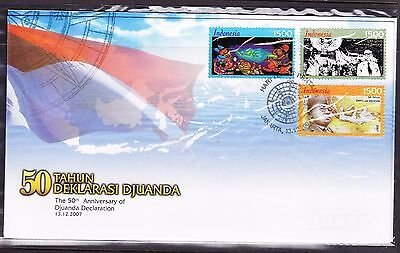 Indonesia 2007 - 50th Anniversary Djuanda Declaration First Day Cover