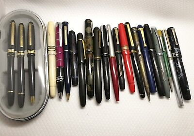 Job Lot fountain pen , pen propelling pencils all for SPARE OR REPAIR
